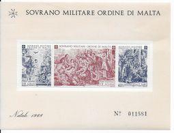 ORDRE De MALTE - SASSONE BLOC N°1 **  - COTE = 65 EUR. - NOËL - Malte (Ordre De)