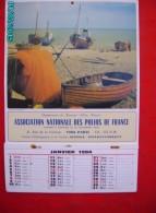CAL1006   CALENDRIER 1984   35 X 24 ..POLIOS DE FRANCE   .COTE DE LA MANCHE  BATEAUX  PECHE - Big : 1981-90