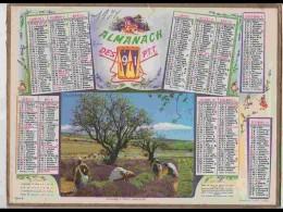 CAL605  .CALENDRIER  .ANNEE  1971 .VAUCLUSE  SAULT  RECOLTE DE LAVANDE  FEMMES. .. Feuillets..NORD. - Calendars