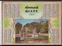 CAL608  .CALENDRIER  .ANNEE  1971 .GARD  NIMES .. Feuillets....non - Calendars