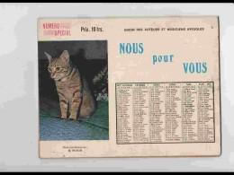 CAL611  .CALENDRIER  .ANNEE  1971 .AUTEURS  ET  MUSICIENS AVEUGLES   Braille Chansons 40 Pages  Photos - Calendars