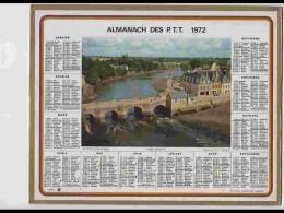 CAL620  .CALENDRIER  .ANNEE  1972. .MORBIHAN  AURAY   Voir  Photos Feuillets ..Herault - Calendars