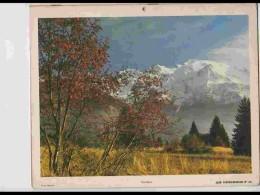 CAL624  .CALENDRIER  .ANNEE  1972. .MONT BLANC SAVOIE ALPES MENTON  Par CARTIER BRESSON  Photos Feuillets . - Calendars