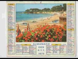CAL643  .CALENDRIER  .ANNEE  1973..CORSE  PLAGE  DE  PARATA .+ Menton  Voir Photos  Feuillets.hérault - Calendars