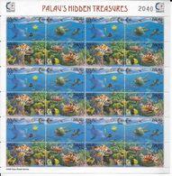PALAU - FEUILLE YVERT N°832/835**  - COTE = 42 EUR. - FAUNE AQUATIQUE - Palau