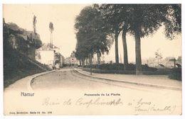 CPA Dos Non Divisé : NAMUR - Promenade De La Plante, Derrière L'emplacement Du Futur Casino - Namur