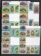 TUVALU - YVERT N°93/110 ** PAIRE AVEC INTERPANNEAU - COTE = 44 EUR. - FAUNE AQUATIQUE - POISSONS - Palau