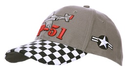 Casquette MUSTANG P51 NORTH AMERICAN US AIR FORCE Cap Flight Airplane Aviation Avion - Aviation