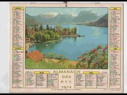 CAL675.  CALENDRIER  .ANNEE  1974.  .SAVOIE  TALLOIRES ..  2 Volets.. Voir Photos  Feuillets..HERAULT - Calendars