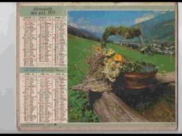 CAL696.  CALENDRIER  .ANNEE  1975. PAU  MORZINE  HAUTE SAVOIE   2 Volets Voir Photos  Feuillets..AISNE - Calendars