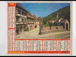CAL728  CALENDRIER  ANNEE 1978 .KAYSERSBERG  Et JOSSELIN MORBIHAN  HAUT RHIN Voir Photos .Feuillets..AISNE. Almanach - Calendars