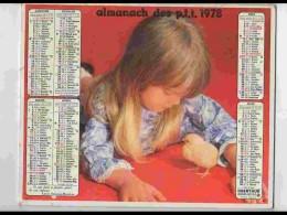 CAL730  CALENDRIER  ANNEE 1978 .POUSSIN  Fillette + Garcon Chien. Voir Photos .Feuillets. Non. Almanach - Calendars