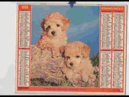 CAL740  CALENDRIER  ANNEE 1978 ..CANICHES + CHATS  COUPLES   Voir Photos .Feuillets. .aisne. Almanach - Calendars