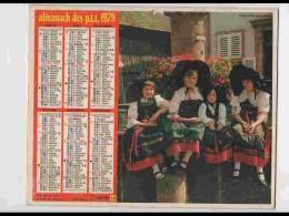 CAL744  CALENDRIER  ANNEE 1979. ALSACE .RIQUEWIHR  HAUT RHIN  FEMMES DE  Voir Photos .Feuillets. .aisne. Almanach - Calendars