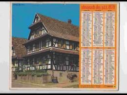 CAL745  CALENDRIER  ANNEE 1979. ALSACE . HOFFEN  BAS  RHIN  .  Voir Photos .Feuillets. .NORD. Almanach - Calendars