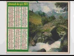 CAL746  CALENDRIER  ANNEE 1979..PONT DU DIABLE .ALPES Et LAGNIEU  Hte SAVOIE  Voir Photos Feuillets.AISNE Almanach - Calendars