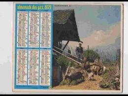 CAL748  CALENDRIER  ANNEE 1979 .ISERE  CLELLES  Et NEVACHE  Htes ALPES. Voir Photos Feuillets..NORD  Almanach - Calendars