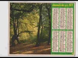 CAL754  CALENDRIER  ANNEE 1979 .AUTOMNE  FORET   +  .2 Volets. Voir Photos Feuillets..HERAULT  Almanach - Calendars