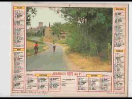 CAL756  CALENDRIER  ANNEE 1979 .VENDEE  POUZAUGES  +   JURA .2 Volets. Voir Photos Feuillets..HERAULT  Almanach - Calendars