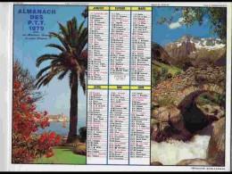 CAL762  CALENDRIER  ANNEE 1979  ANTIBES Et OLAN  ALPES ..  .2 Volets. Voir Photos Feuillets..DEUX SEVRES  Almanach - Calendars