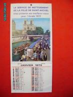.CAL1     PO532   CALENDRIER  1973 .BOUEUX DE ST MICHEL   35 X 16  PARIS PENICHE QUAIS  AARONS - Calendars