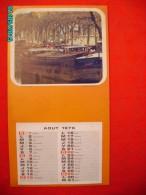 .CAL1     PO533   CALENDRIER  1976 .MONTCEAU LES MINES .   34 X 19  PENICHES  . - Calendars