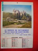.CAL1     PO534   CALENDRIER  1974 ..BOUEUX DE SAINT MICHEL  34 X 24  PIERREFONDS - Calendars