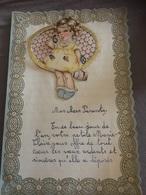 LETTRE RELIEF À SYSTÈME SUPERBE 1946 RHINES BELGIQUE A VOIR !!! - Faire-part