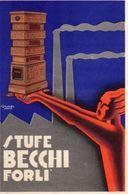 Pubblicita': STUFE BECCHI - Forli', Disegno Campi Faenza - Pubblicitari