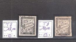 France Colonies émissions Générales Taxe N° 8 O.et 9 * Cote Yvert & Tellier :22,00 € - Postage Due