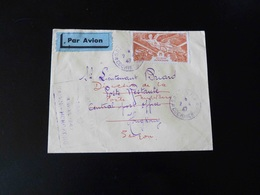 POSTE AERIENNE INDOCHINE  -  REOUVERTURE DE LE LIGNE SAIGON - HONGKONG  -  1947  - - Indochina (1889-1945)