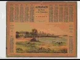 CAL322  ALMANACH  De 1938 . .BORDS  DU  TRIEUX  BRETAGNE  COTES DU NORD   +  .Puy De Dome - Calendars