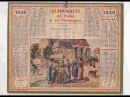 CAL323  ALMANACH  De 1939 .BOURG  PAYS CREUSOIS   CREUSE  Signé Beuzon - Calendars