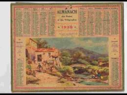 CAL324  ALMANACH  De 1939 ..MENTON  VALLEE  ALPES MARITIMES Signé LESSIEUX + Puy De Dome - Calendars