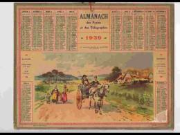 CAL330  ALMANACH  De 1939 ..FINISTERE  EN ROUTE POUR LE MARCHé   Bretagne    +  Puy De Dome - Calendars
