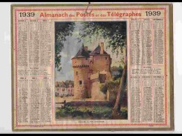 CAL335  ALMANACH  De 1939 .. Signé  RALLE .  GUERANDE  BRETAGNE  SAINT MICHEL   + Puy De Dome - Calendars