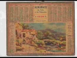 CAL339    ALMANACH  De 1939 .Signé. LESSIEUX   PRES MENTON ALPES MARITIMES - Calendars