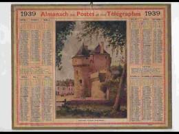 CAL340    ALMANACH  De 1939 ..GUERANDE  BRETAGNE SAINT MICHEL  + Puy De Dome - Calendars
