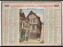 CAL341    ALMANACH  De 1939 ..ROUEN   Signé BOUDIEZ    VIEUX - Calendars