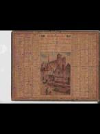 CAL344   ALMANACH  De  1939   Signé .beuzon .VIEIL  AMIENS   + Puy De Dome - Calendars