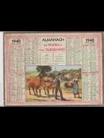 CAL345   ALMANACH  De  1940   .BOEUFS  PAYSAN   FEMME   + .Oise - Calendars