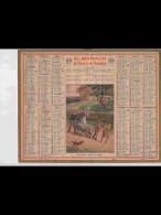 CAL347  ALMANACH  De  1940  NORMANDIE  RECOLTE DE POMMES FEMME ENFANTS  BROUETTE Signé   +  Puy De Dome - Calendars