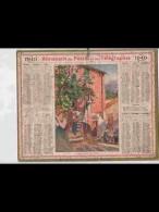 CAL348  ALMANACH  De  1940  .MAISON ROUGE DU VIEUX MENTON  ALPES M..  FEMMES  Signé   +  Puy De Dome - Calendars
