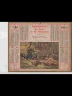 CAL352  ALMANACH  De  1940  .MORBIHAN  LAVOIR  LAVANDIERES  BRETAGNE     Signé .RENE  PEAN    +  . - Calendars