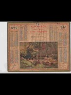 CAL353  ALMANACH  De  1940  .MORBIHAN  LAVOIR  LAVANDIERES  BRETAGNE     Signé .RENE  PEAN    +  . - Calendars