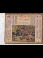 CAL354  ALMANACH  De  1940  .MORBIHAN  LAVOIR  LAVANDIERES  BRETAGNE     Signé .RENE  PEAN    +  . - Calendars