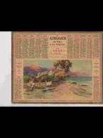 CAL355    ALMANACH  De  1940   Signé ..LESSIEUX  .PECHEURS  A L ' ESTEREL  + Puy De Dome - Calendars