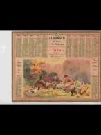 CAL356    ALMANACH  De  1940 . CHASSEURS  REPAS DE    + Puy De Dome - Calendars