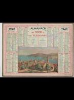 CAL357    ALMANACH  De  1940 ..Signé  RINSTNI  COLLIOURE  PYRENEES ORIENTALES     +. Nord Lille - Calendars
