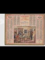 CAL359    ALMANACH  De  1940.  CHASSEUR  AU LIEVRE  FEMME ENFANTS  JOIE .     +. Puy De Dome. - Calendars